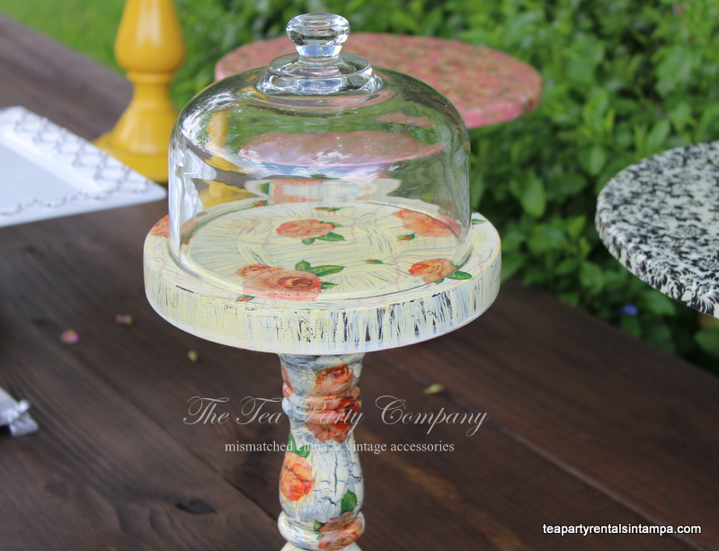 Decoupage Cake Stand The Tea Party