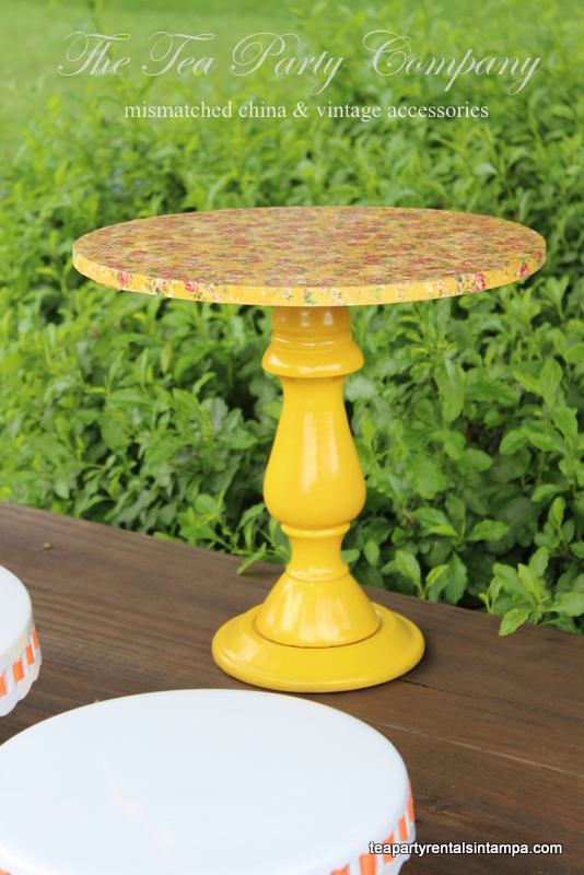 Decoupage Cake Stand