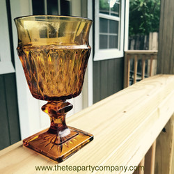 Colored Glassware Amber The Tea Party Co