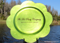 Bright Green Plastic Charger The Tea Party Company