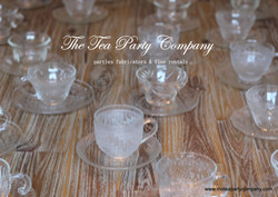 Clear Glass Tea Cup & Saucer Collection  The Tea Party Company (1)