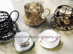 The Tea Party Company Teacup Metal Cente