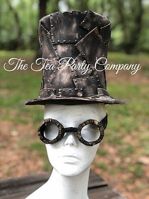 Steampunk hat, steampunk googles Props.p