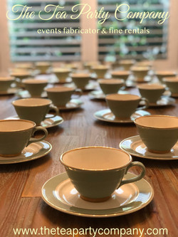 vintage green teacups and saucers The Te