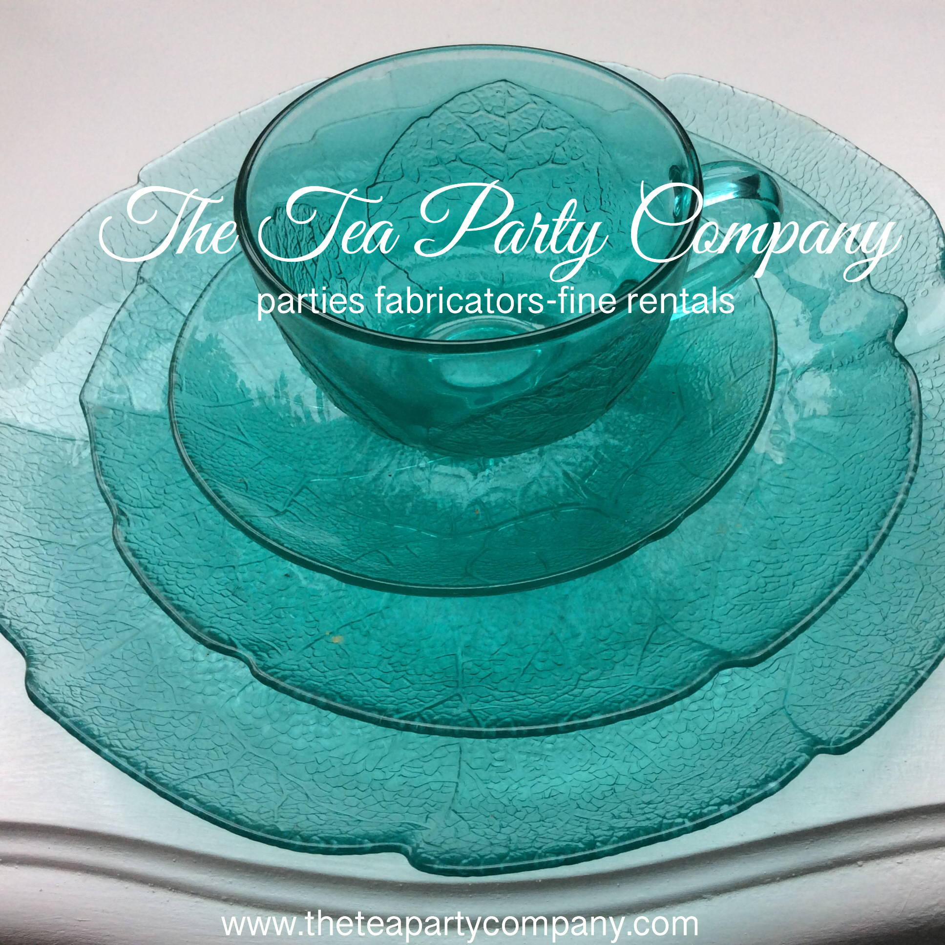 Aqua Depression Vintage Set Teacup