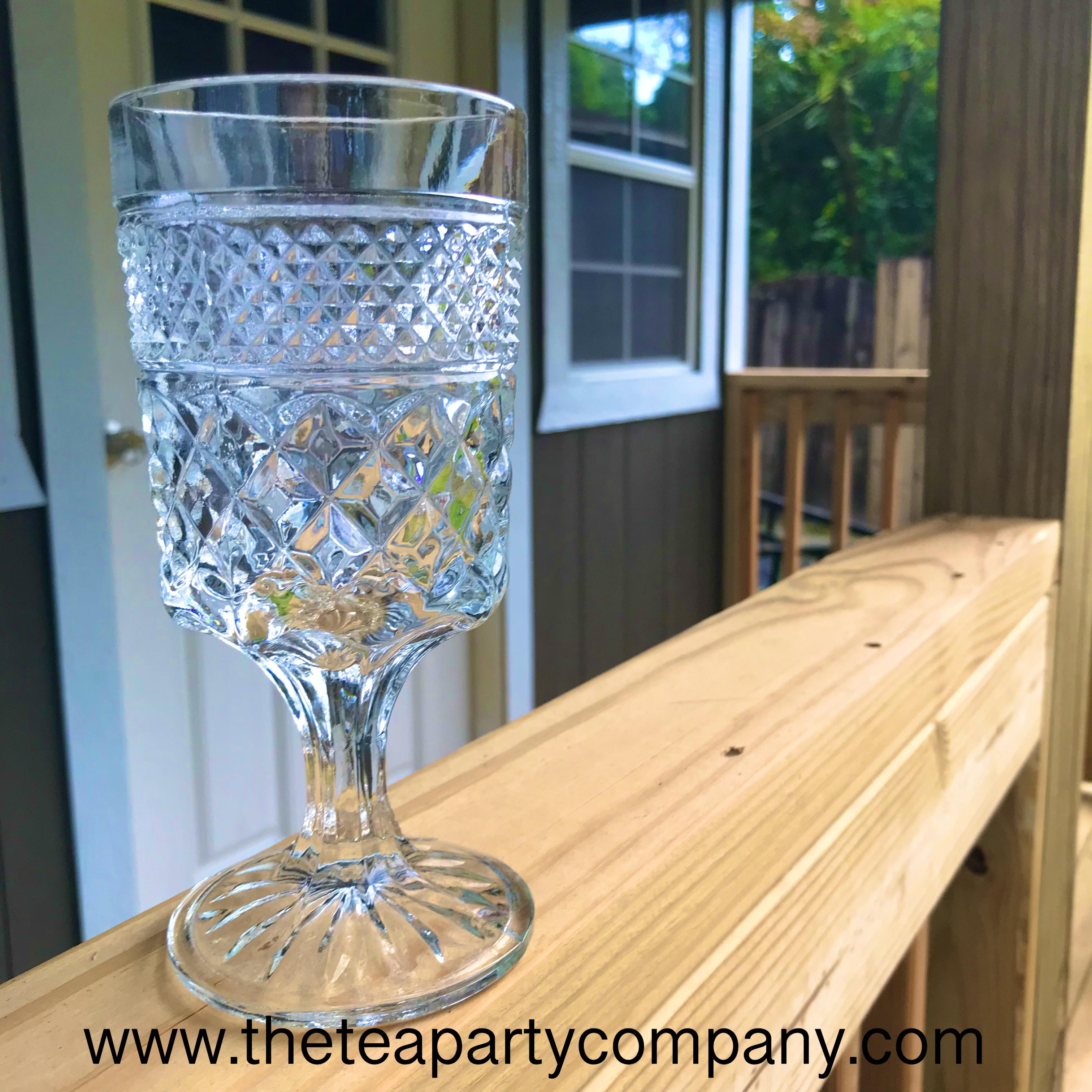 Clear Vintage Glassware  The Tea Party C