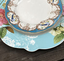 Shabby Chic China Dinner Plate Salad Plate The Tea Party CompanyTampa