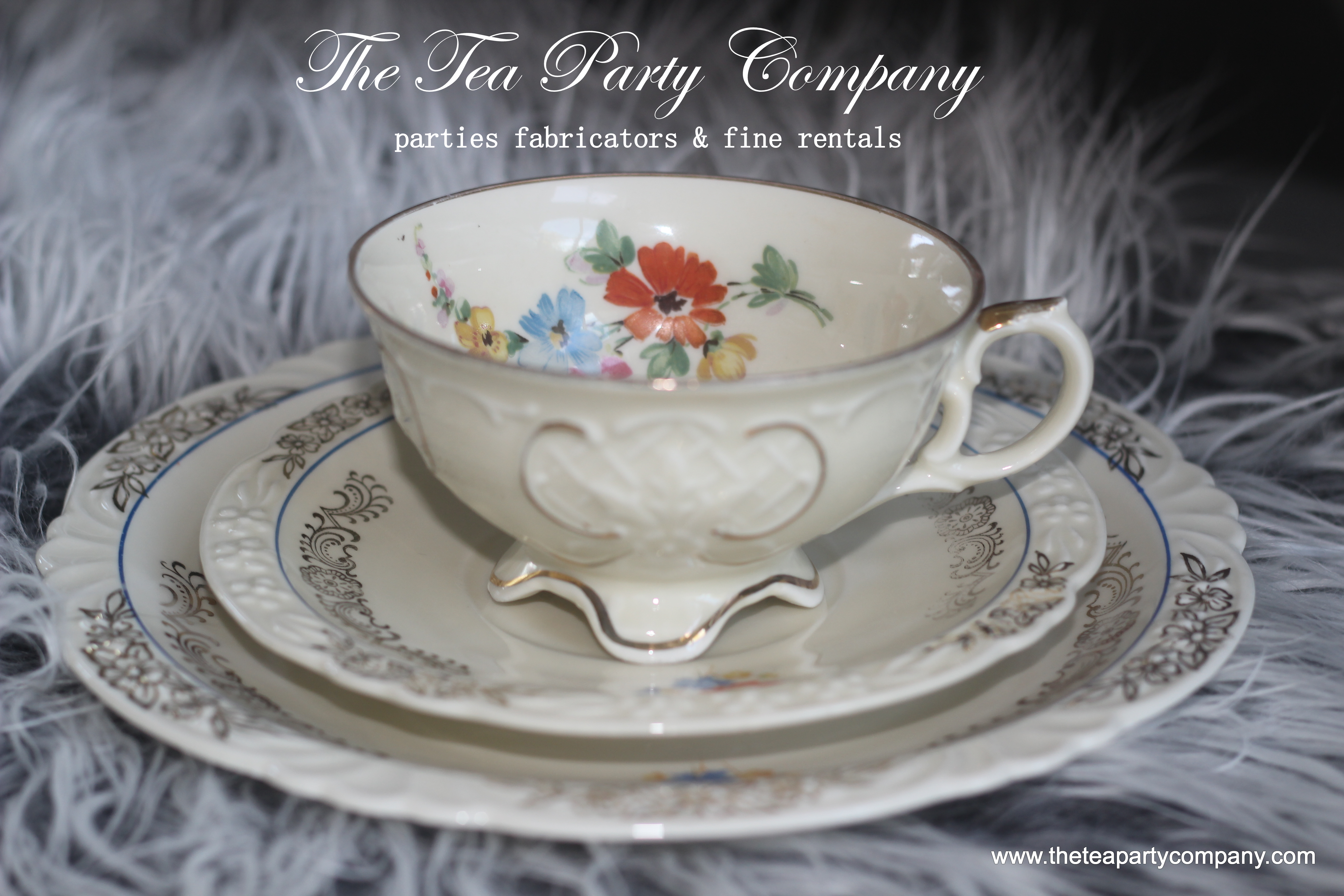 Trio Matching Tea Cup Saucer And Salad P