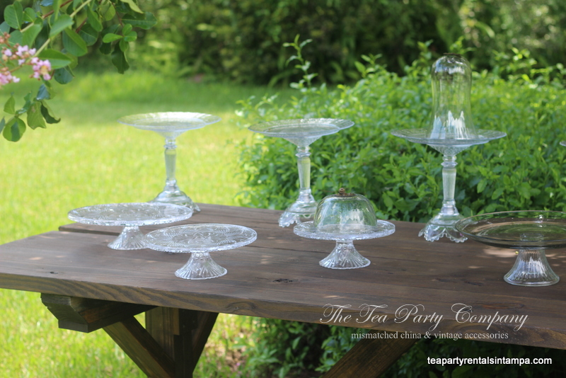Clear Glass Cake Stands The Tea Party Company (3)
