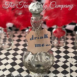 Alice in Wonderland Drink Me Bottles Dec