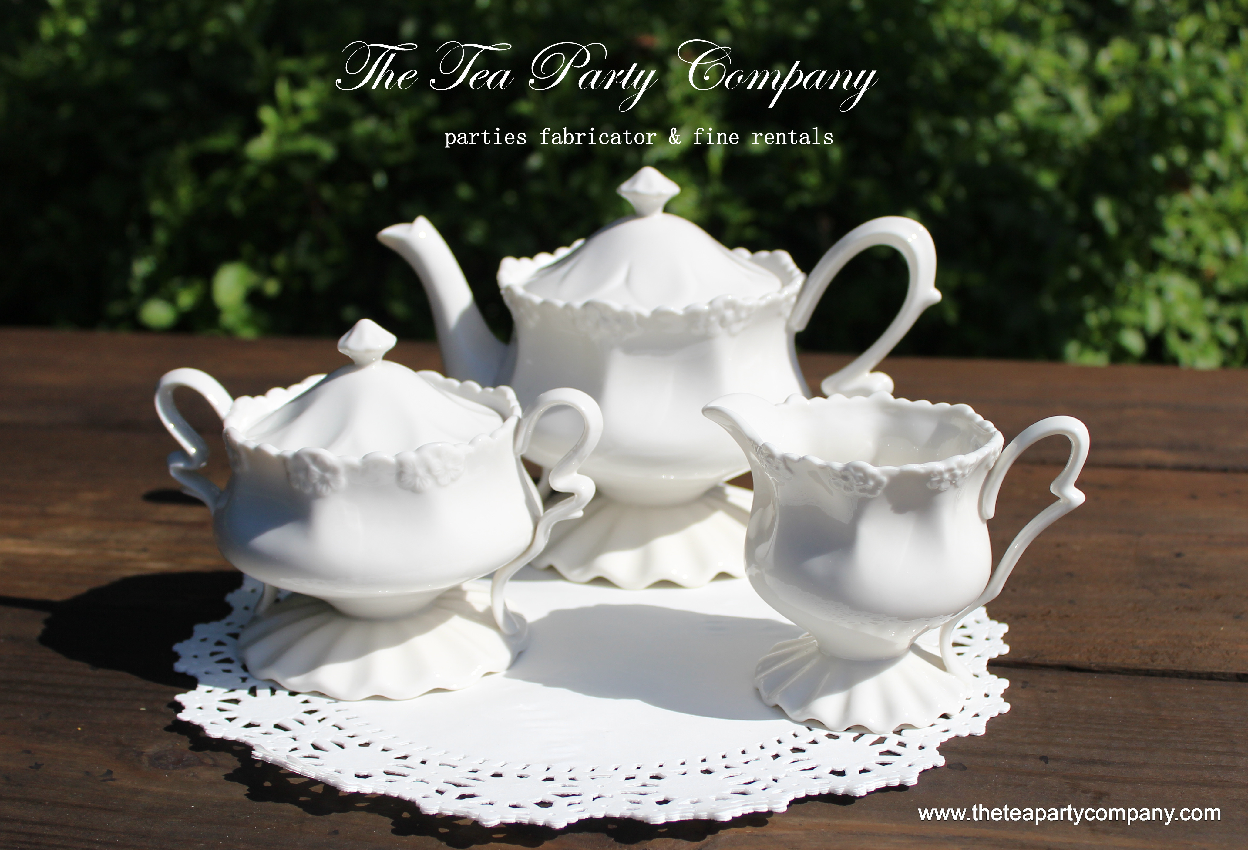 White Tea Sets Collection The Tea Party