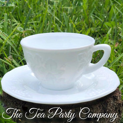 Milk Glass Tea Cup Colored Glass Collection The Tea Party Company