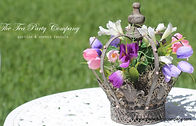 Crown Cenetrpiece Flower Decorated Princess Themed Party | The Tea Party Company