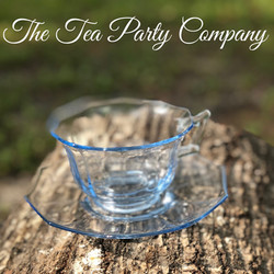 LIght Blue Tea Cup Colored Glass Collection The Tea Party Company