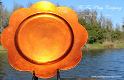 Burnt Orange Plastic Charger The Tea Party Company