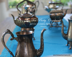 Silver plated teapots The Tea Party Company