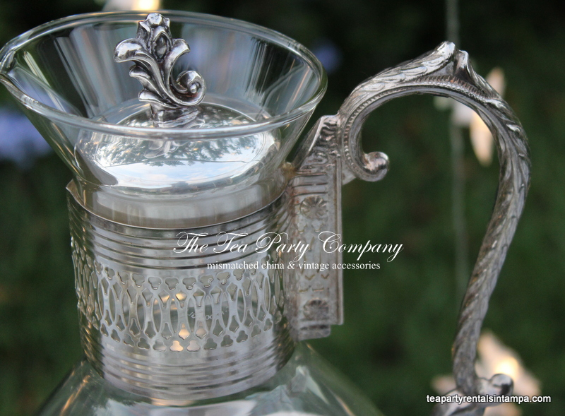 Silverware Water Caraffe The Tea Party Company