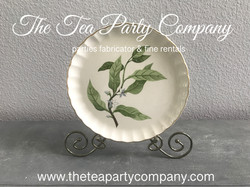 vintage dinner plate The Tea Party Compa