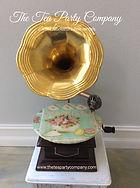 Gramophone Prop Decor Mad Hatter Gartden Tea Party
