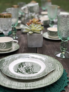 The Old Curiosity Shop Vintage Tablescape | The Tea Party Company | Tampa