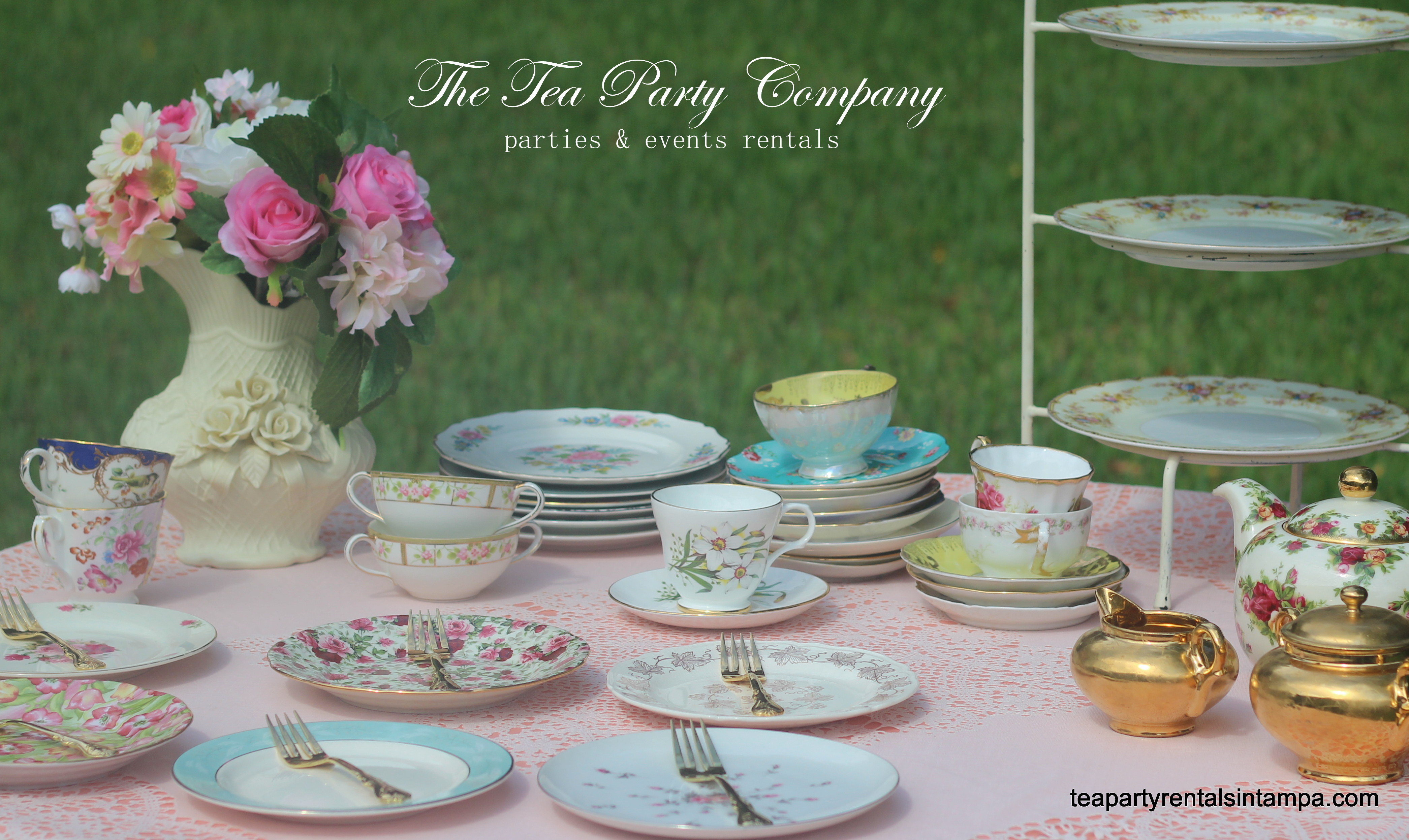 mismatched collection teacups