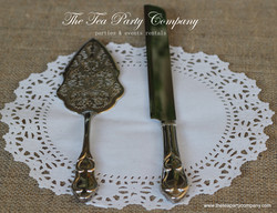 Embossed Wedding Cake _ Knife  Server Set The Tea Party Company