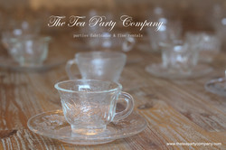 Clear Glass Tea Cup & Saucer Collection  The Tea Party Company