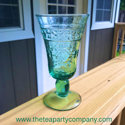 colored glassware green The Tea Party Co