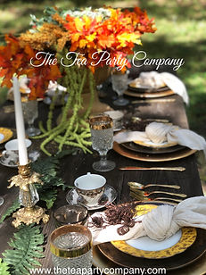 yellow & brown fall dinner tablescape |The Tea Party Company | Tampa