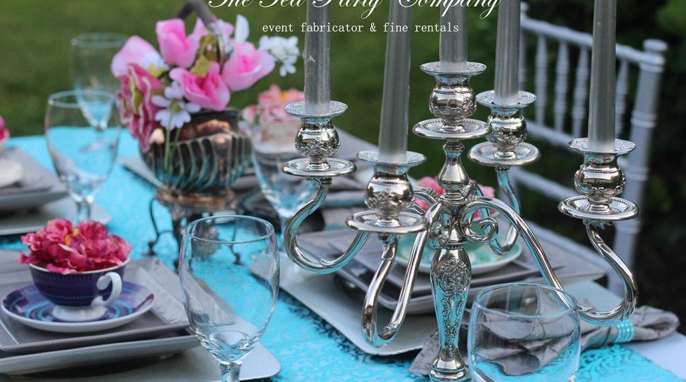 Silver and Turquoise Decor Garden Tea Party.JPG