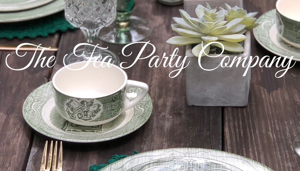 green and white salad plate the tea party company.jpg