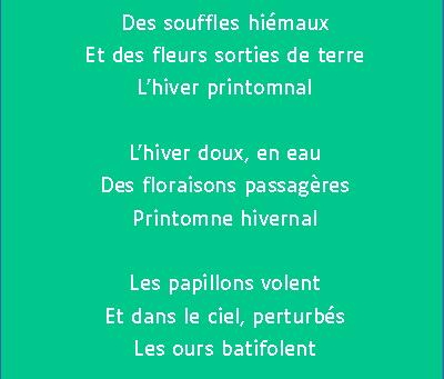 Semaine Langue Française, jour 8