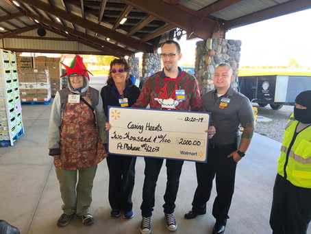 Walmart Ft. Mojave Surprises with Donation to WOW