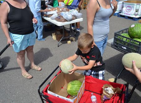 Produce market draws big crowd