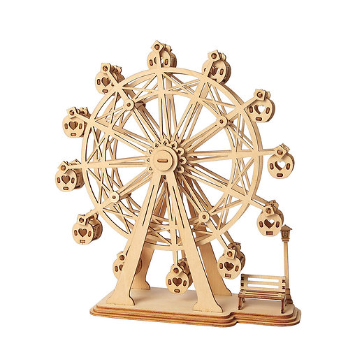 3D Laser Cutting Wooden Puzzle Ferris Wheel
