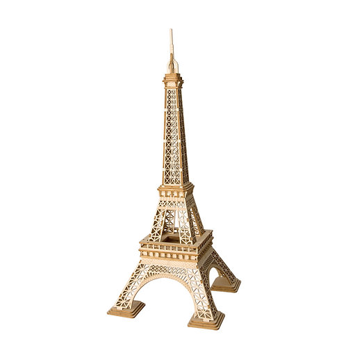 3D Laser Cutting Wooden Puzzle Eiffel Tower
