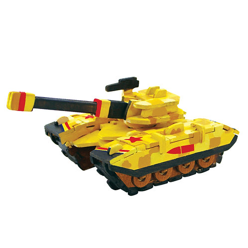 Painting 3D Wooden Puzzle Tank