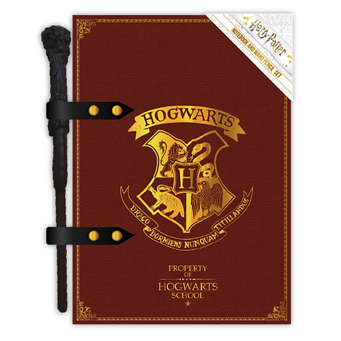 Notebook Wand Pencil Set-Harry Potter