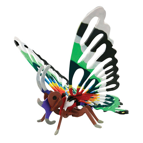 Painting 3D Wooden Puzzle Butterfly