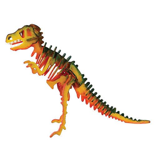 Painting 3D Wooden Puzzle T-Rex