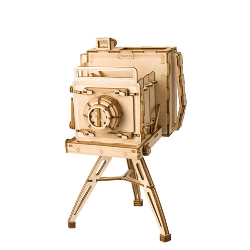 3D Laser Cutting Wooden Puzzle Vintage Camera