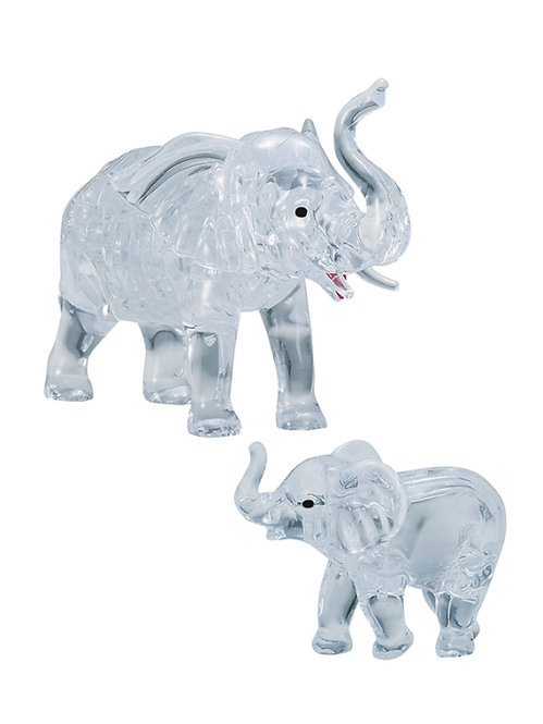 Crystal Puzzle 2 Elephants