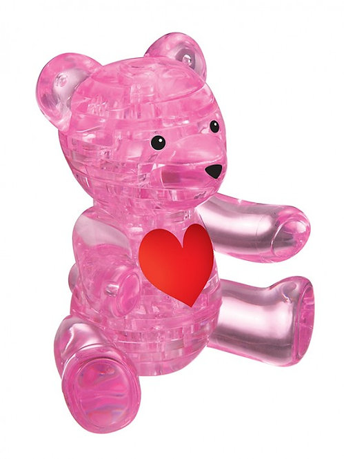 Crystal Puzzle Teddy Bear Pink