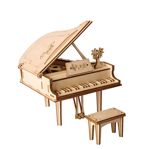 3D Laser Cutting Wooden Puzzle Grand Piano