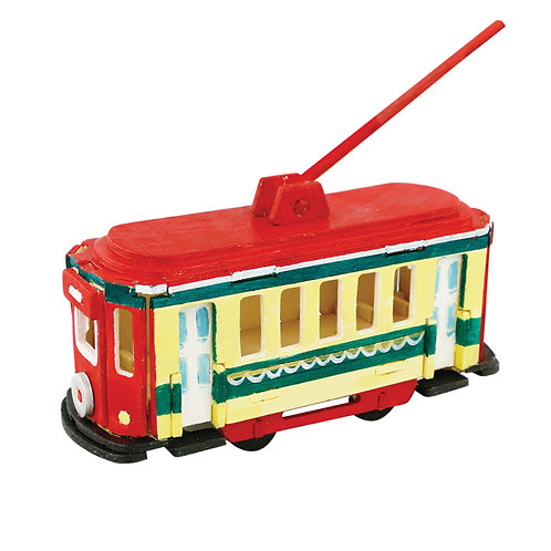 Painting 3D Wooden Puzzle Trolley