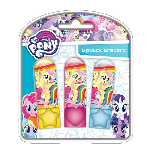 Scribble Lipstick Eraser Set 3PK- My Little Pony