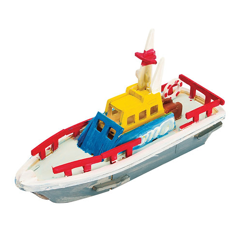 Painting 3D Wooden Puzzle Lifeboat