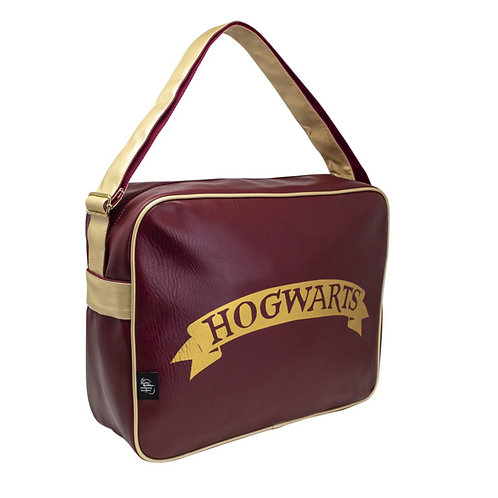 Messenger Bag (Burgundy PU Leather)-Harry Potter