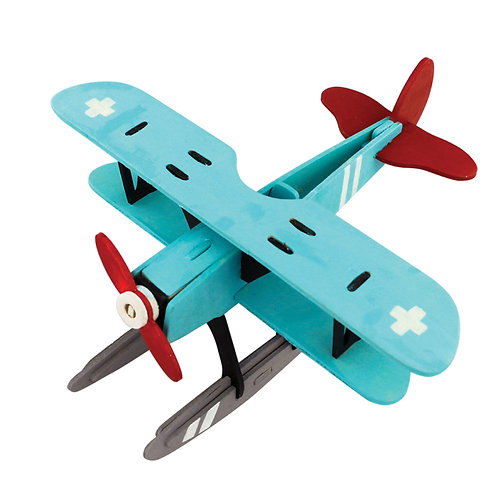 Painting 3D Wooden Puzzle Hydroplane