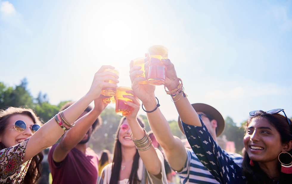 friends-making-a-cheers-at-the-music-fes